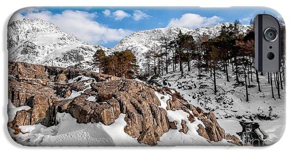 Winter Digital Art iPhone Cases - Foot Prints iPhone Case by Adrian Evans