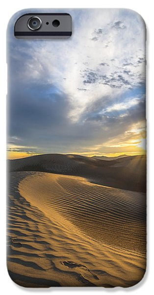 Sunflare iPhone Cases - Foot Prints in the Sand iPhone Case by Dustin  LeFevre