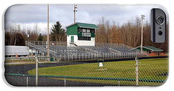 Clare Michigan iPhone Cases - Football Field in Clare Michigan iPhone Case by Terri Gostola