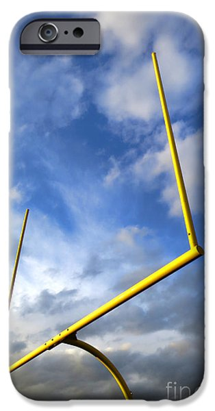 Menacing iPhone Cases - Football Goal Posts iPhone Case by Olivier Le Queinec