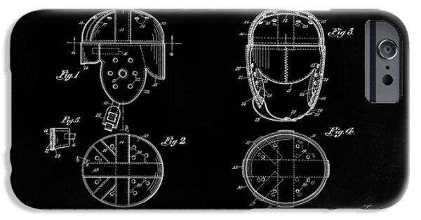 New York Jets iPhone Cases - Football Helmet 1926 - Black iPhone Case by Mark Rogan