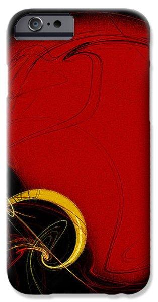 Football Helmet Red Fractal Art 2 iPhone Case by Andee Design