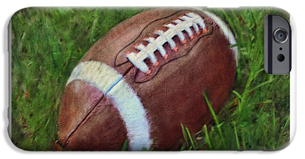Punting iPhone Cases - Football on Field iPhone Case by Craig Tinder