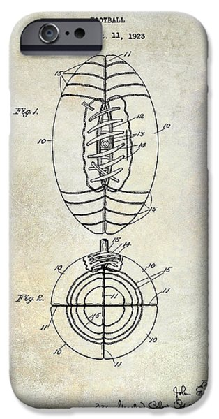 Miami Photographs iPhone Cases - 1925 Football Patent Drawing iPhone Case by Jon Neidert