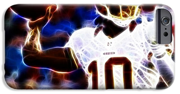 Quarterback iPhone Cases - Football - RG3 - Robert Griffin III iPhone Case by Paul Ward