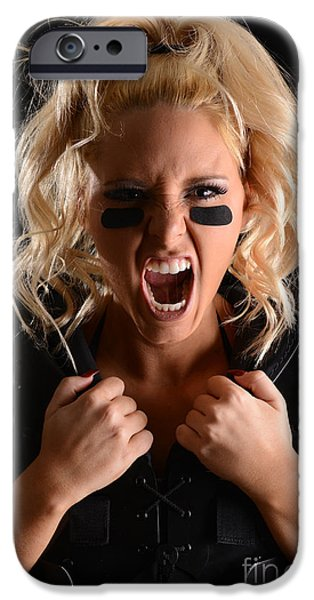 Dominating iPhone Cases - Football Scream iPhone Case by Jt PhotoDesign