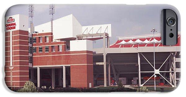 Papa iPhone Cases - Football Stadium, Papa Johns Cardinal iPhone Case by Panoramic Images