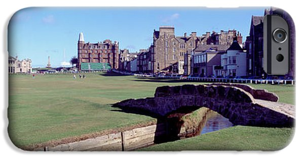 Golf Green iPhone Cases - Footbridge In A Golf Course, The Royal iPhone Case by Panoramic Images