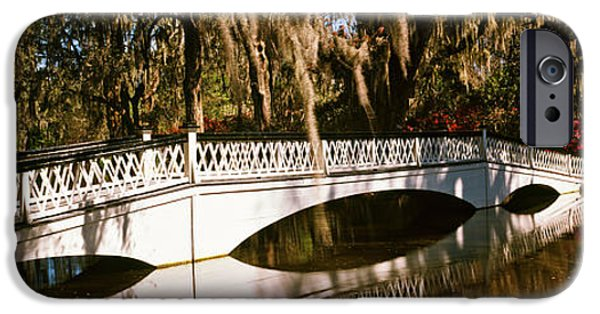 Connection iPhone Cases - Footbridge Over Swamp, Magnolia iPhone Case by Panoramic Images