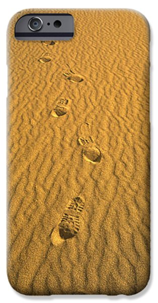Death Proof iPhone Cases - Footprints, Death Valley National Park iPhone Case by Panoramic Images