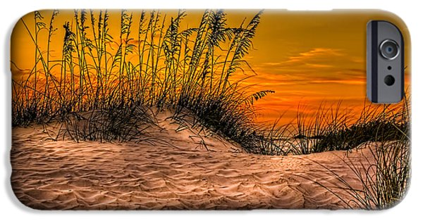 Gulf Shores iPhone Cases - Footprints in the Sand iPhone Case by Marvin Spates