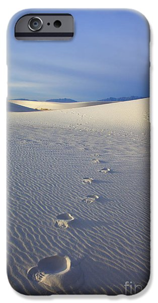 White Sand iPhone Cases - Footprints iPhone Case by Mike  Dawson