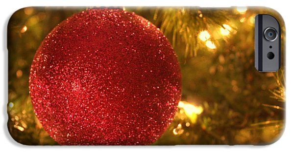 Christmas Greeting iPhone Cases - For a Bright Christmas iPhone Case by Dorothy Menera