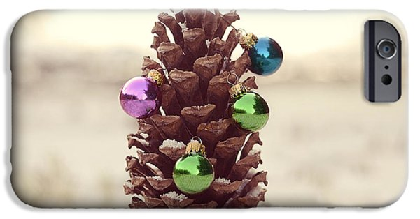 Pine Cones Photographs iPhone Cases - For All Creatures Great And Small iPhone Case by Laura  Fasulo