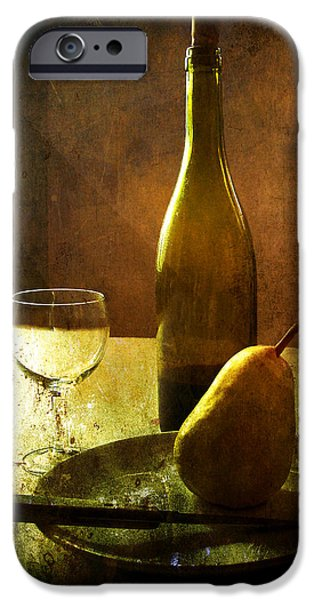 Table Wine Digital iPhone Cases - For One iPhone Case by Julie Palencia