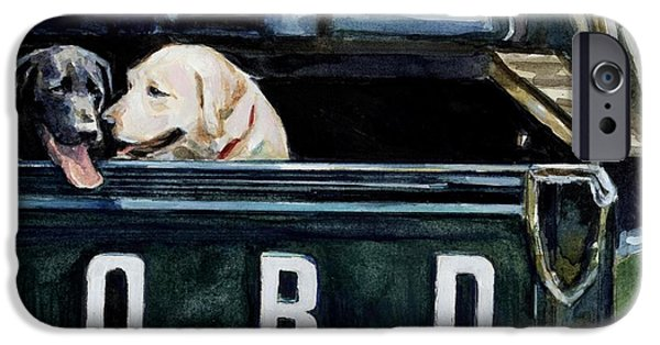 Truck iPhone Cases - For Our Retriever Dogs iPhone Case by Molly Poole