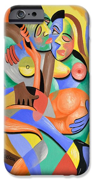 Women Together iPhone Cases - For Play iPhone Case by Anthony Falbo