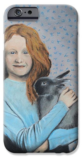 Young iPhone Cases - For The Love of Bunny iPhone Case by Jeanne Fischer