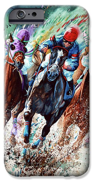 Horse Artist iPhone Cases - For The Roses iPhone Case by Hanne Lore Koehler