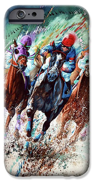 Sport Paintings iPhone Cases - For The Roses iPhone Case by Hanne Lore Koehler
