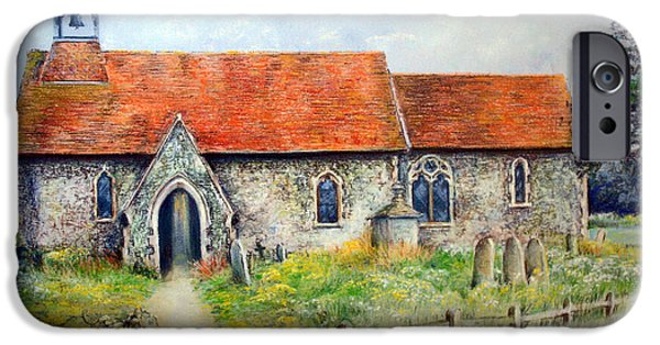 History Pastels iPhone Cases - For Whom The Bell Tolls iPhone Case by Rosemary Colyer