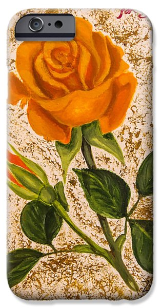 Plant Paintings iPhone Cases - for YOU... iPhone Case by Zina Stromberg