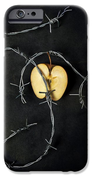 Eerie iPhone Cases - Forbidden Fruit iPhone Case by Joana Kruse
