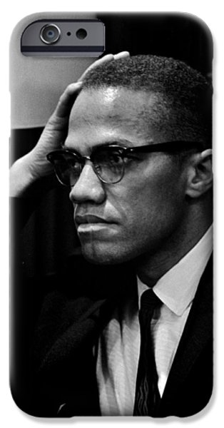 Malcolm X iPhone Cases - Forceful Resistance iPhone Case by Benjamin Yeager