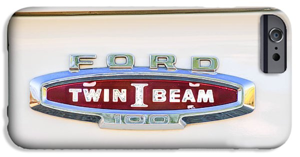 Recently Sold -  - Antiques iPhone Cases - Ford 100 Twin I Beam Truck Emblem iPhone Case by Jill Reger