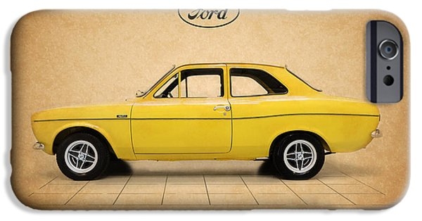 Rally iPhone Cases - Ford Escort Mexico iPhone Case by Mark Rogan