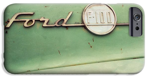 Old Cars iPhone Cases - Ford F-100 iPhone Case by Priska Wettstein