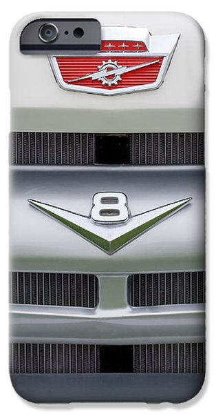 Ford Truck iPhone Cases - Ford Grille V8 Custom Cab Emblem  iPhone Case by Jill Reger