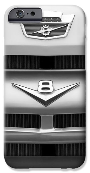 Ford V8 iPhone Cases - Ford Grille V8 Emblem Custom Cab iPhone Case by Jill Reger