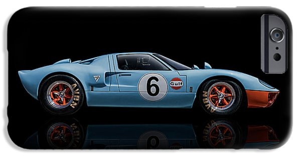 Gulf iPhone Cases - Ford GT 40 iPhone Case by Douglas Pittman