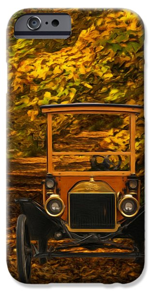 Ford Model T Car iPhone Cases - Ford iPhone Case by Jack Zulli