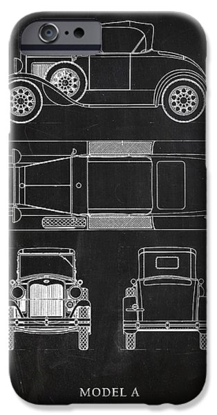 Ford Model T Car iPhone Cases - Ford Model A iPhone Case by Mark Rogan