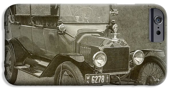 Ford Model T Car iPhone Cases - Ford Model T iPhone Case by Angie Vogel