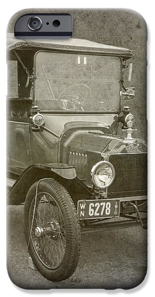 Ford Model T iPhone Case by Angie Vogel