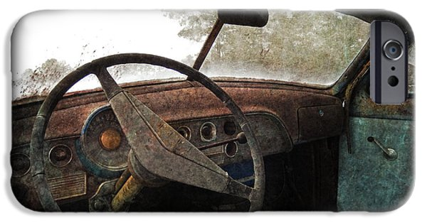 Old Cars iPhone Cases - Ford Patina iPhone Case by Kelley Freel-Ebner