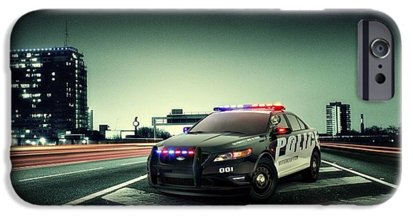 Police Art iPhone Cases - Ford Police Interceptor iPhone Case by Movie Poster Prints