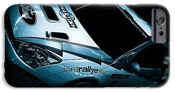 Racingcars iPhone Cases - Ford Rally Car iPhone Case by Martin Newman