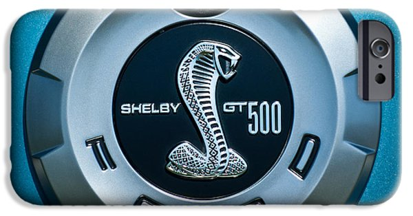 500 iPhone Cases - Ford Shelby GT 500 Cobra Emblem iPhone Case by Jill Reger