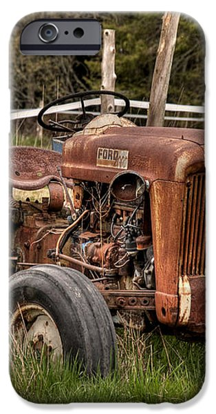 Ford Tractor iPhone Case by Alana Ranney