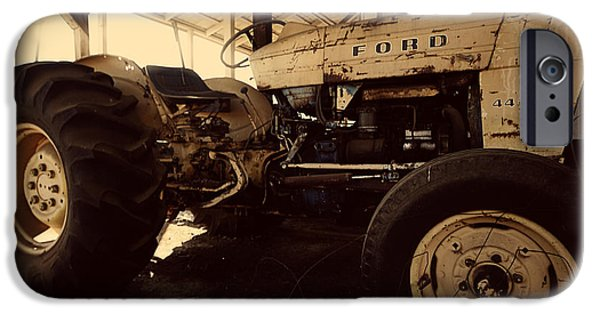 Work Tool iPhone Cases - Ford Tractor iPhone Case by Cheryl Young