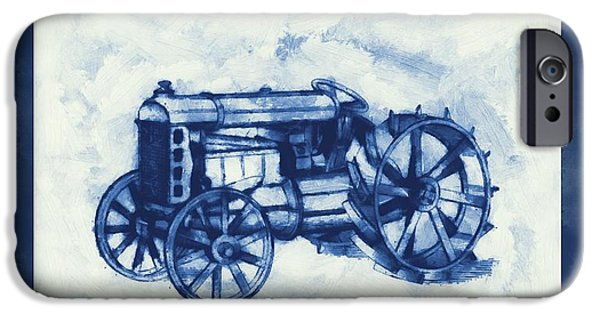 Agriculture Mixed Media iPhone Cases - Ford Tractor Patent iPhone Case by Dan Sproul