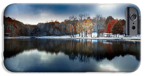 Winter Storm iPhone Cases - Foreboding Beauty iPhone Case by Rob Blair