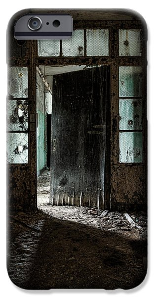 foreboding doorway iPhone Case by Gary Heller