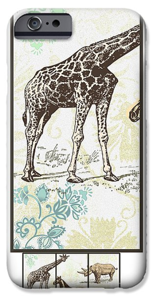 Fauna iPhone Cases - Forest Animals group suitable for hanging Frames iPhone Case by Art World