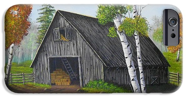 Shed iPhone Cases - Forest Barn iPhone Case by Sheri Keith