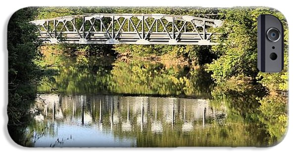 Reflections In River iPhone Cases - Forest Bridge iPhone Case by Dan Sproul